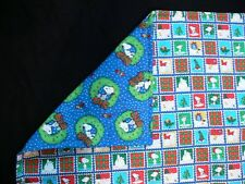 Christmas Snoopy and Woodstock Comforter Quilt Peanuts Toddler Bedding 43 x 68