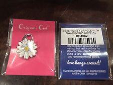 Daisy w/Swarovski Crystal (Silver) Dg4082 Origami Owl Dangle (new) Gold