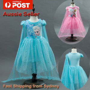 Girl Dress Costume Princess Queen Elsa Party Birthday size 3-10Yrs