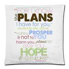 Decorative Square Throw Pillow Cover Custom Bible Verse Cushion Case 18x18 Inch