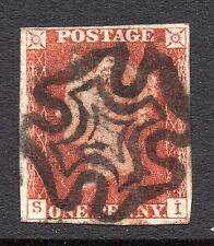 QV 1841 sg8a 1d piastra di Rosso 37 con l'uso in ritardo di un bel MX PMK (S I)