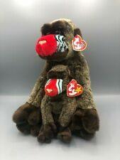 Ty Beanie Buddy and Babies Bundle Cheeks the Baboon Pair Plush Stuffed Animal