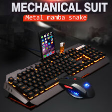M938 Led Rétro-éclairé USB Ergonomic Clavier Gaming + Gamer Souris Sets + Tapis