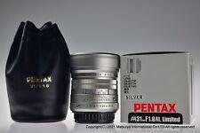 ** Near MINT ** smc Pentax FA 31mm f/1.8 AL Limited Silver