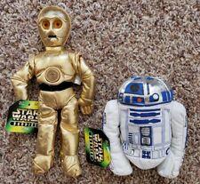 Star Wars Buddies Beanie Baby C-3PO And R2D2 Plush Dolls