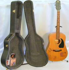 Gibson Epiphone Acoustic Guitar Autographed By Tillis Morgan Carter W/Hard Case