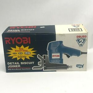 VINTAGE RYOBI DBJ50 BISCUIT JOINER NEW OLD STOCK IN BOX JOINTER NEVER USED