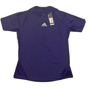Adidas Mens Training Active Alphaskin Sport Short Sleeve Tee Purple Sz XL 842TA