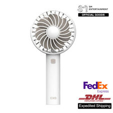 EXO SM Official Goods Rechargeable Fan Air Cooler Mini Operated Handheld