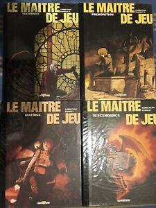 Le Maitre De Jeu 1 A 4 Tirages Numérotés Et signes Corbeyran / Charlet 4 Volumes