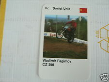 23 MOTO-CROSS 6C USSR VLADIMIR FAGIMOV CZ 250 KWARTET KAART, QUARTETT CARD,