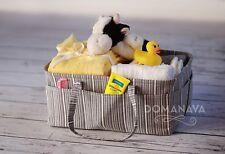 Domanava Diaper Caddy Baby Storage Nursery Organizer for Newborn, Large, Grey