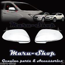 Chrome Side Rear View Mirror Cover Trim for 13+ Hyundai Santa Fe/Santa Fe XL