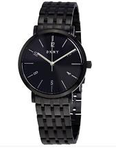 DKNY Women's Minetta Black Stainless Steel Watch Black Dial 36mm NY2612 Arabic