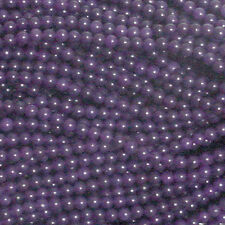 4MM AMETHYST ROUND BEADS - 16 IN STRAND - Natural Gemstone
