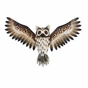 SALE! Large Handcrafted 3D Metal Owl Wall Art Hanging Sculpture Garden Outdoor