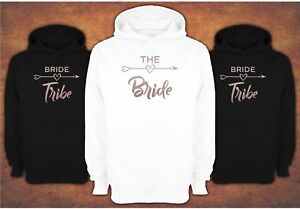 Rose Gold Free delivery Hen Do Party Bride Tribe 2021  Ladies Female  Hoodie