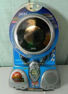 JWIN JXCD3344 Personal CD Pocket Radio Speaker Package Headphones New Old Stock