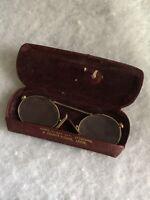 Antique Price Nez Spectacles 1900s 1910s Original Case Glasses Vintage Retro Old
