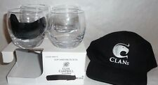 CLAN CAMPBELL WHISKY 4 Beaux verre boule + casquette neuf