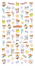 Buy 2 Get 1 Free, Cute Hamtaro Nail Decals 3D Nail Art Sticker for Gel Polish
