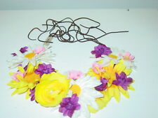 American Eagle Outfitters headband silk flowers purple white yellow rave-NWT