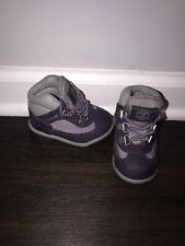 Timberland Baby Toddler Purple Grey Classic Hiking Field Boots Size 4c EUC