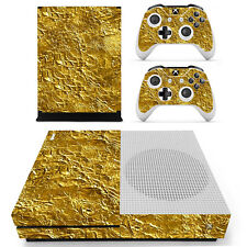 XBox One S Console and Controller Skins -- Gold Foil Design (XS-0174)