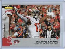 2019 Panini Instant NFL #91 Emmanuel Sanders Football Card 49ers - Only 63 made!