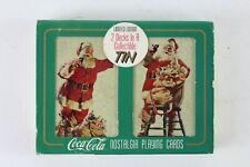 1995 Coca-Cola 2 Deck Nostalgia Playing Cards Collectible Tin
