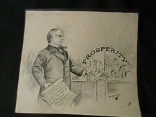 Berryman-Rare Original Pol. Cartoon-McKinley Sees Prosperity at Tenn, Expo