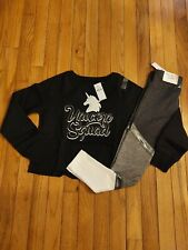 NWT Girls Justice Unicorn Sweatshirt/Color Block Leggings Size 8
