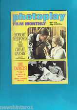 #T42.  PHOTOPLAY FILM  MONTHLY MOVIE  MAGAZINE, MAY 1974, ROBERT REDFORD  COVER
