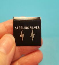 Darling Lightning Bolt Solid Sterling Silver Solitaire Stud Earrings Set 10MM