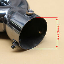 76mm 3 Inch Caliber Auto  Dual Outlet Tail Rear Pipe Exhaust Muffler Cover Parts