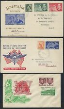 AUSTRALIA 1950's COLLECTION OF 12 COVERS FDC & COMMERCIAL INCLUDE WAR TIME CENSO