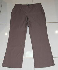 Womens size 14 brown ankle length stretch pants made by REGATTA