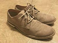 H&M Men's Gray Tan Suede Lace Up Derby Dress Casual Shoes Size 8.5