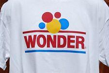 graphic retro vintage mens Gildan100% Cotton T Shirt SIZE  LARGE , Wonder Bread