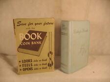 Vintage old BOOK COIN BANK Union Trust & Deposit company Parkersburg WV Gerett