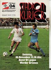 BL 84/85 Bayer 04 Leverkusen - SV Werder Bremen