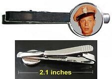 The Andy Griffith Show Barney Fife Tie Clip Clasp Bar Slide Silver Metal Shiny