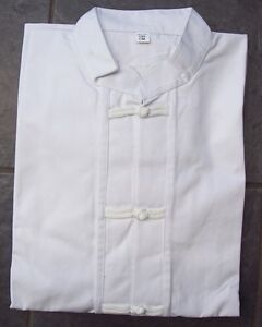 Tai Chi Kung Fu Jacket White Cotton Taiji XL Uniform Top UK Seller