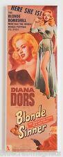 Blonde Sinner FRIDGE MAGNET (1.5 x 4.5 inches) insert movie poster woman