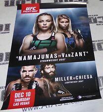 Paige VanZant Signed UFC Fight Night 80 27x39 Poster v Rose Namajunas Autograph