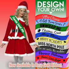 Personalised Christmas Sash Present Santa Happy Holiday Decoration Mrs Clause