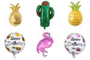 Folienballon Luftballon Sommer Pool Party Ananas Kaktus Deko Geburtstag Flamingo