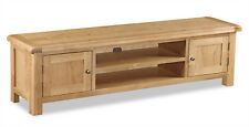 Oakvale Large Low TV Unit / Media Stand / Widescreen Television Cabinet / 180cm