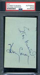 Harry Caray Stan Musial PSA DNA Coa Autograph Hand Signed Album Page