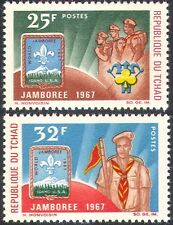 Chad 1967 Scouts/Scouting/Jamboree/Badge/People/Youth/Leisure 2v set (n42585)